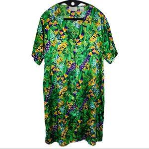 Cabernet tropical button up sleep shirt or…